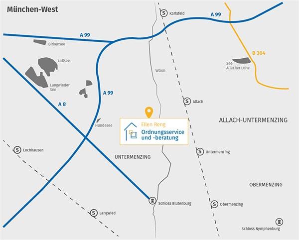 Ordnungsservice und -beratung in München: Karte